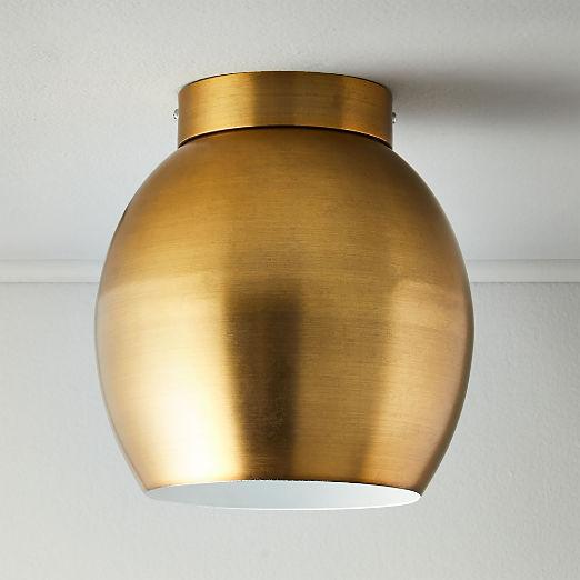 Campana Antique Brass Flush Mount