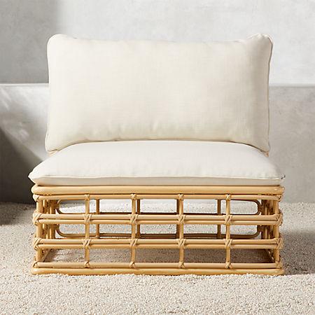 Cana Outdoor Armless Chair Cb2