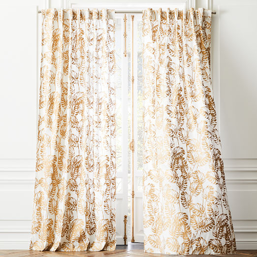 Monstera Palm Curtain Panel