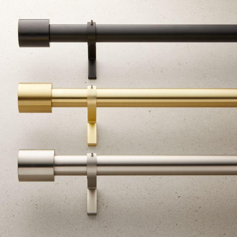 Cap Finial Curtain Rod Set 1 25