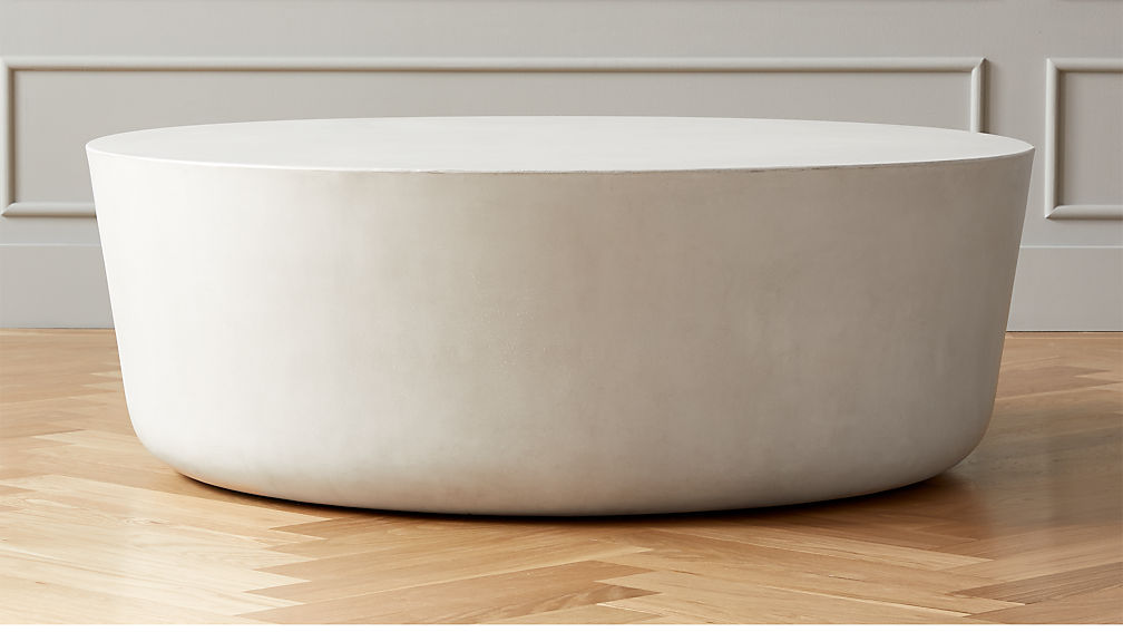 Cap Ivory Cement Large Coffee Table - Image 1 of 3
