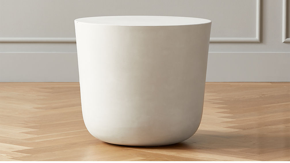 Cap Ivory Cement Side Table - Image 1 of 5
