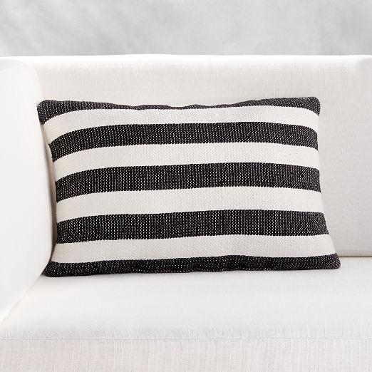 """20""""x12"""" Cap Striped Outdoor Pillow"""