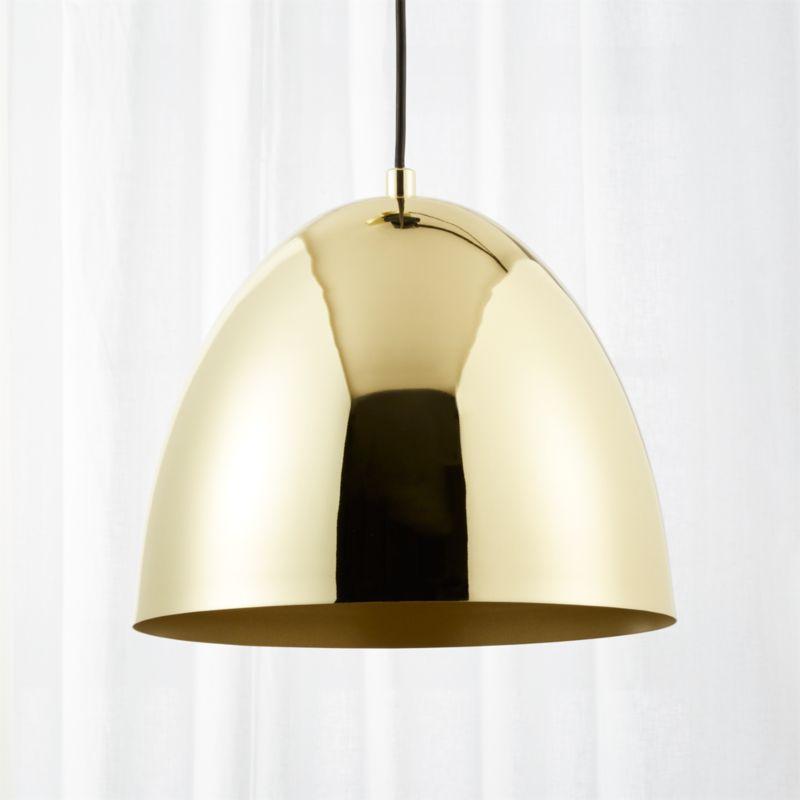 Superbe Capitol Small Brass Bell Pendant Light