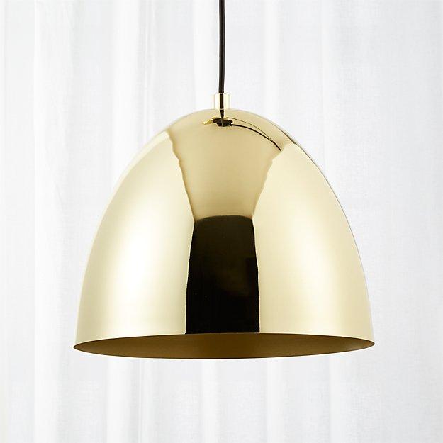 Capitol small brass bell pendant light reviews cb2 aloadofball Gallery