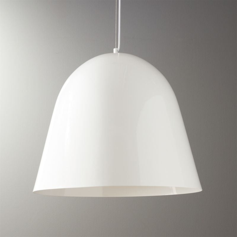Capitol White Bell Shaped Pendant Light Reviews Cb2