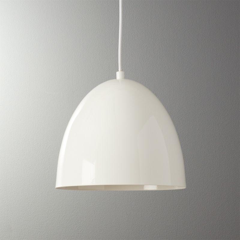 White pendant lights cb2 capitol small white bell pendant light aloadofball Gallery