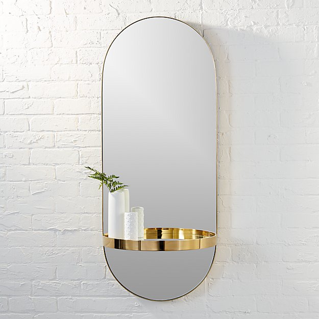 Caplet Oval Mirror With Shelf Reviews Cb2