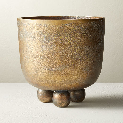 Capo Brass Footed Planter