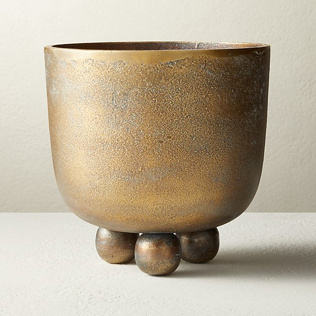 Capo Brass Footed Planter - Image 1 of 7