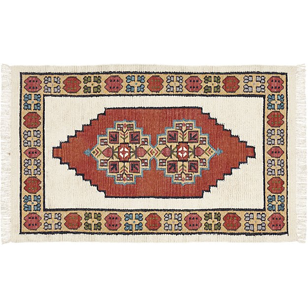 Capella Red And White Shag Rug 5 X8 Reviews Cb2