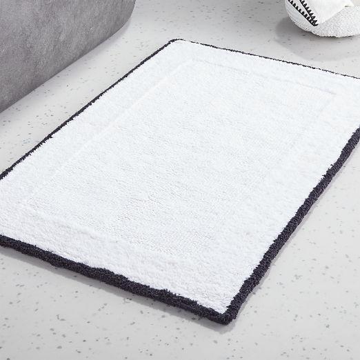 Capri Bath Mat Black/White