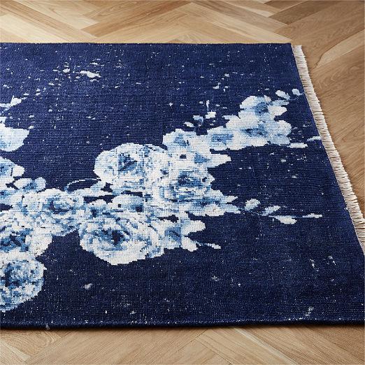 Capulet Handknotted Blue Floral Rug