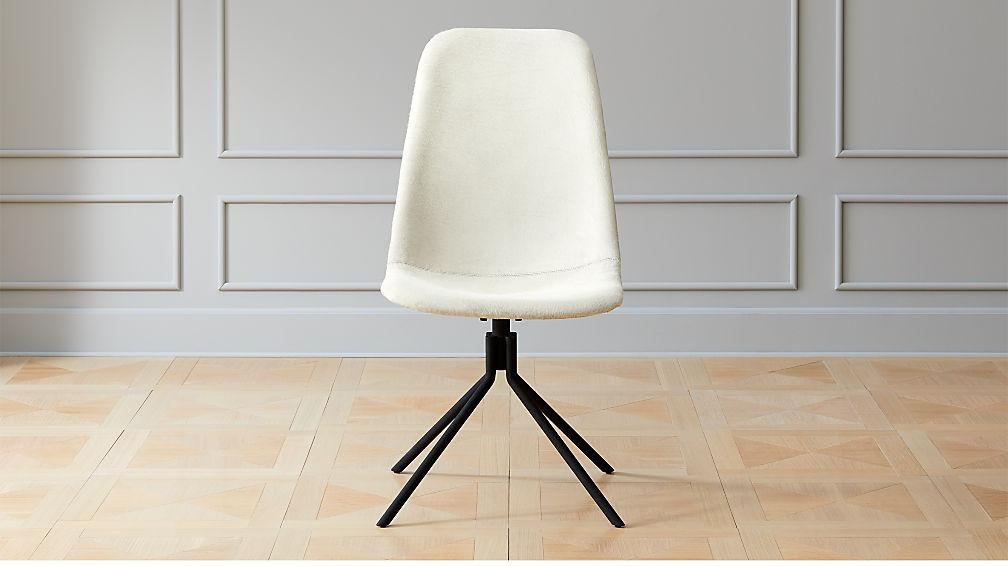 Cowhide Barstools Vintage Black White Hairhide Leather Bar: Carine Cowhide Office Chair + Reviews