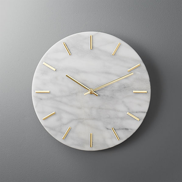 Carlo Marble And Brass Wall Clock Reviews Cb2 Canada
