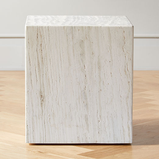 Carmelo Travertine Side Table