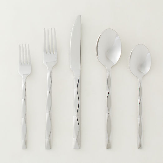 20-Piece Carter Shiny Stainless Steel Flatware Set