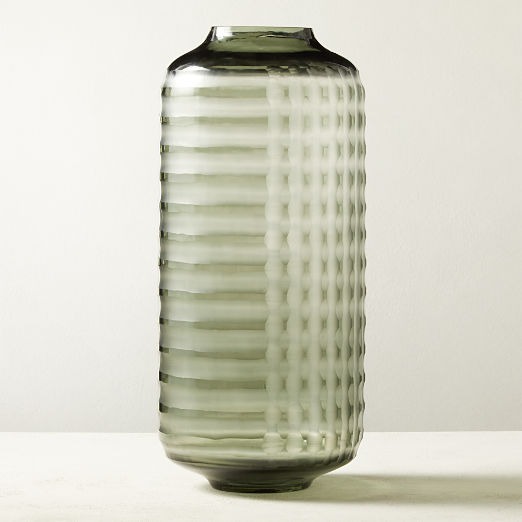 Carter Glass Smoke Vase
