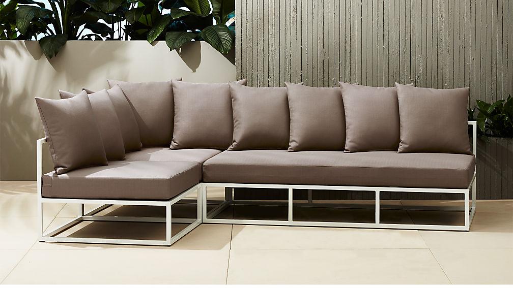 Casbah Modular Outdoor Sectional Sofa Reviews Cb2