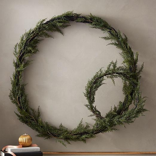 Faux Cedar Wreaths