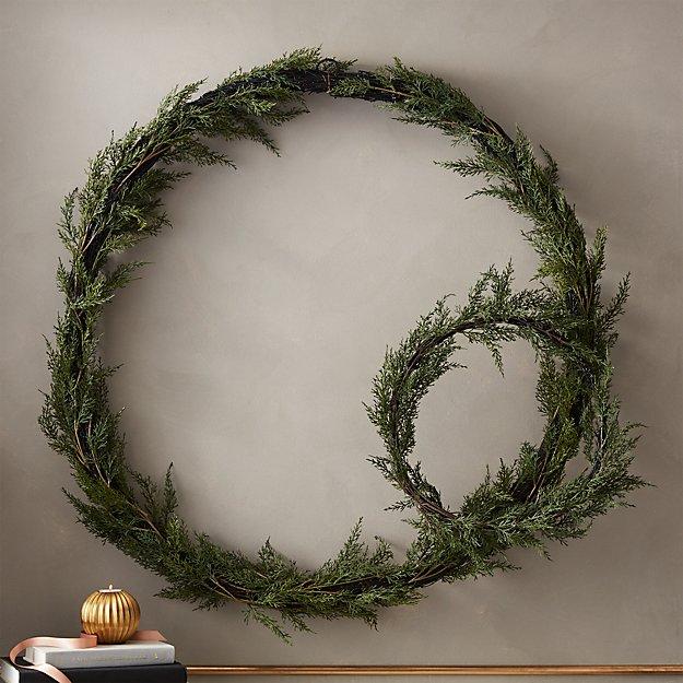 Faux Cedar Wreaths - Image 1 of 11