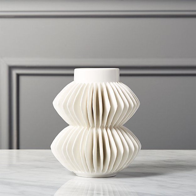 Celia White Vase Reviews Cb2