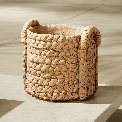 Cement Basket Medium Planter