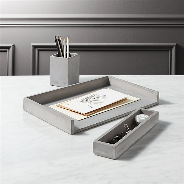 Cement Desk Accessories - Image 1 of 10