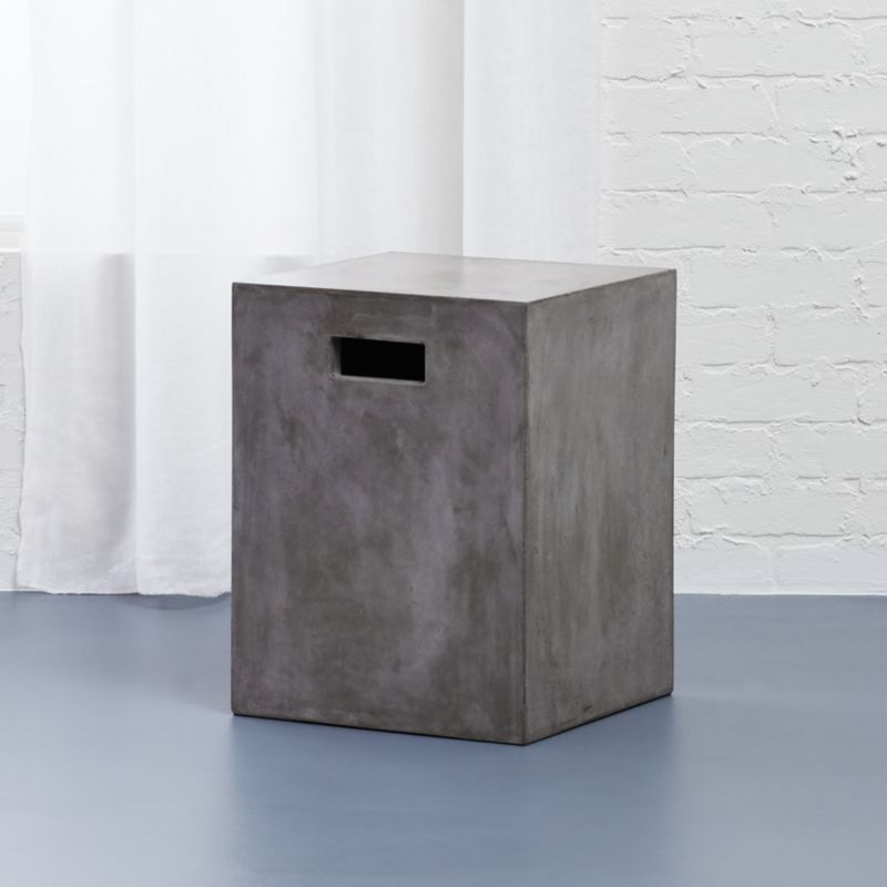 Cement Grey Side Table Reviews Cb2