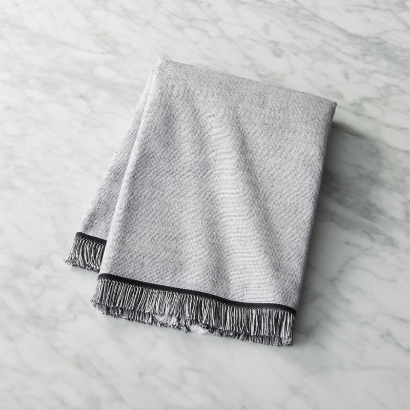 Chambray Black And White Hand Towel