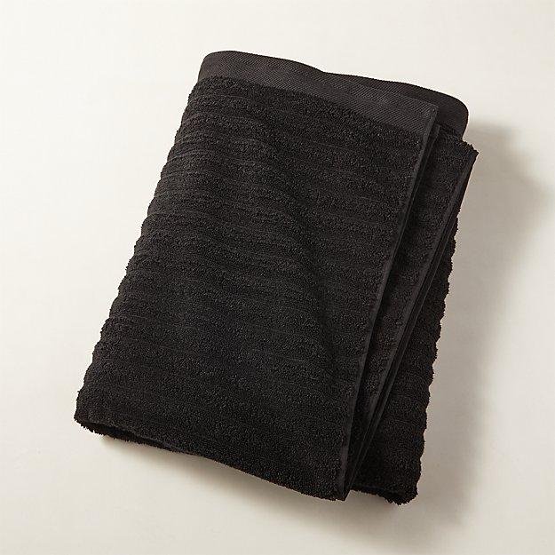 Channel Black Cotton Bath Sheet - Image 1 of 10