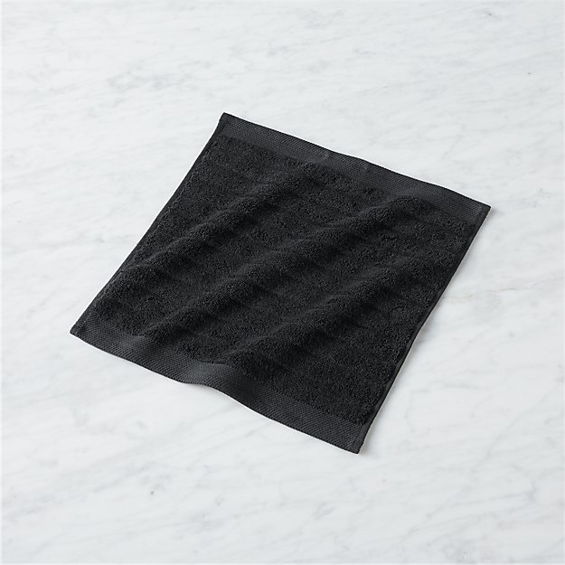 Channel Black Cotton Washcloth - Image 1 of 10
