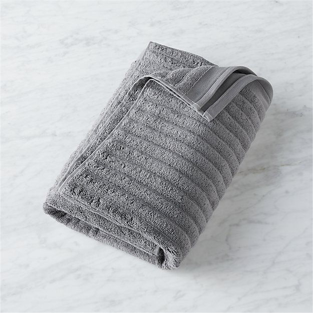 Channel Grey Cotton Bath Towel - Image 1 of 12