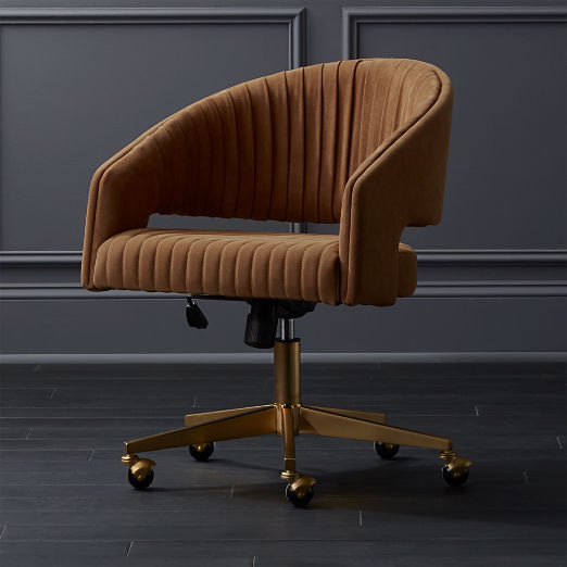 Channel Suede Office Chair