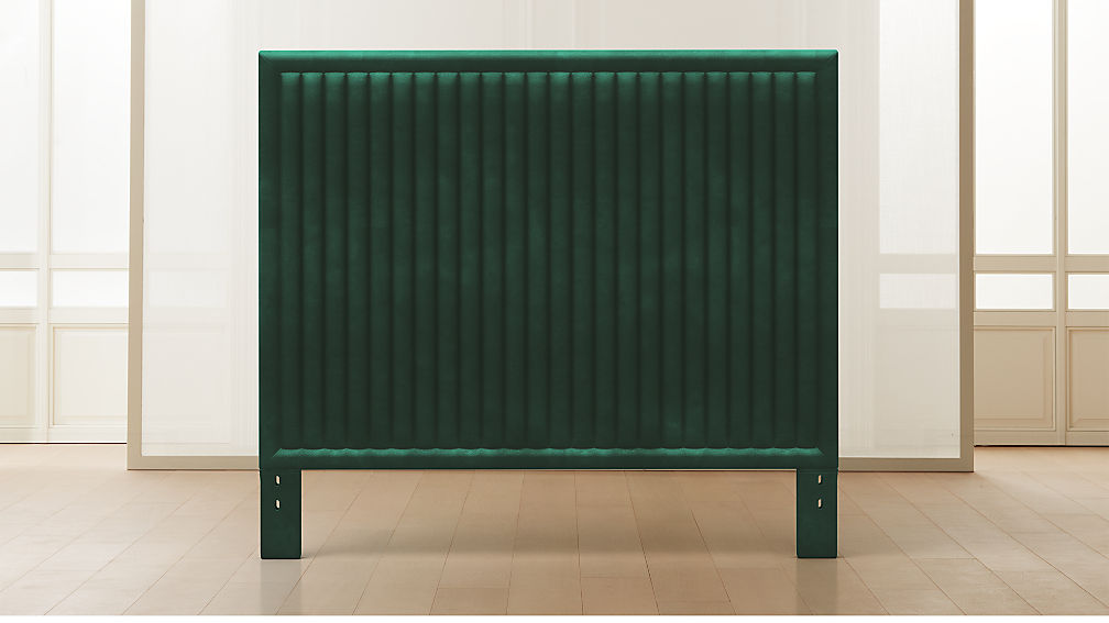 Channel Tufted Headboard Pine with Base Options - Image 1 of 10