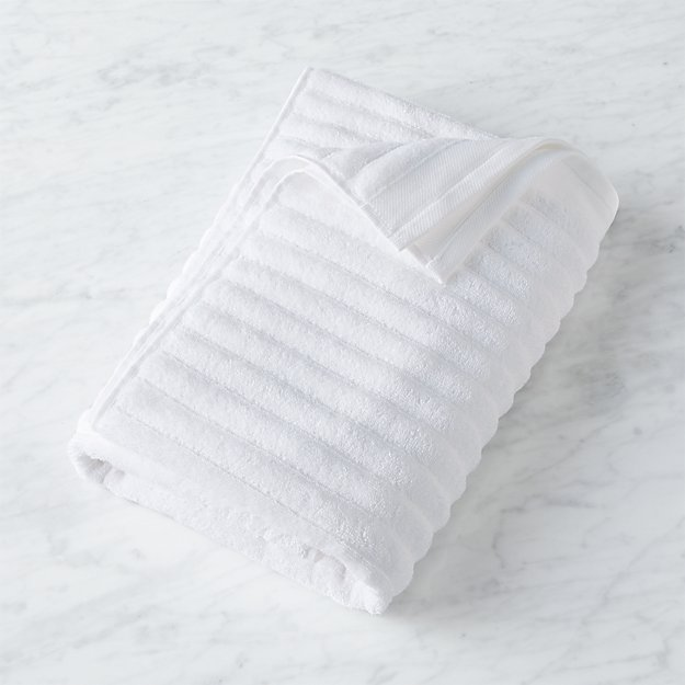 Channel White Cotton Bath Towel - Image 1 of 12