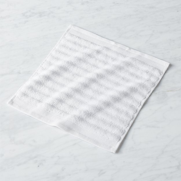 Channel White Cotton Washcloth - Image 1 of 12