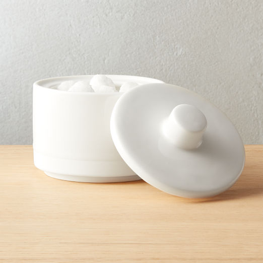 Chantilly White Sugar Bowl with Lid