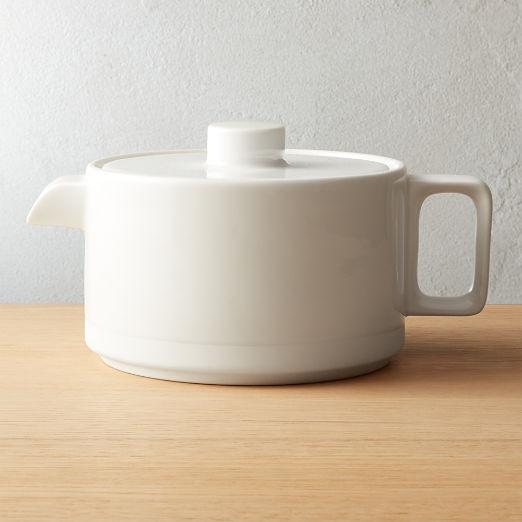 Chantilly White Teapot