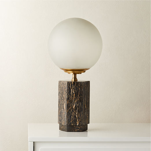 Charade Marble Globe Table Lamp