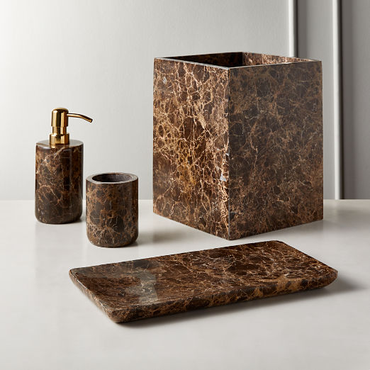 Charlemagne Brown Bath Accessories