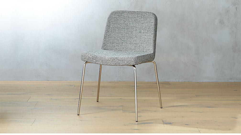 Charlie Grey Tweed Chair + Reviews   CB2