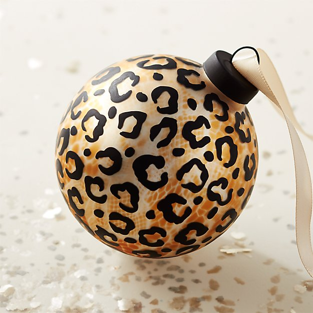 Glass Cheetah Ornament - Image 1 of 7