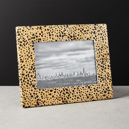 """Hair On Hide Cheetah Print Frame 5""""X7"""""""