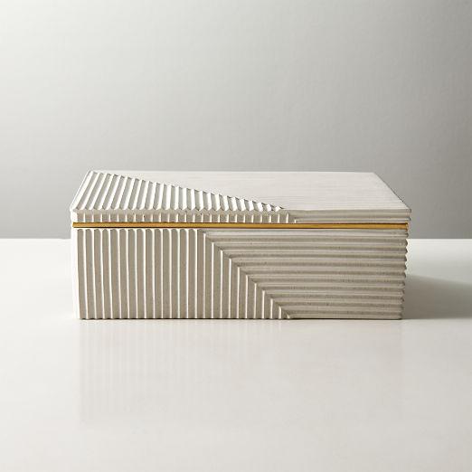 Chelsea White Concrete Box