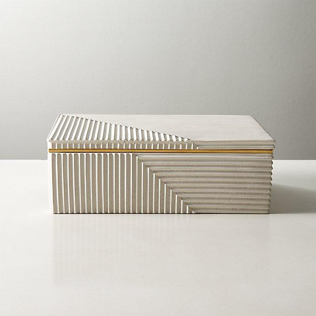 Chelsea White Concrete Box - Image 1 of 5