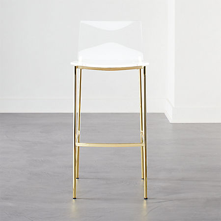 Super Chiaro Clear Bar Stool 30 Gold Dailytribune Chair Design For Home Dailytribuneorg