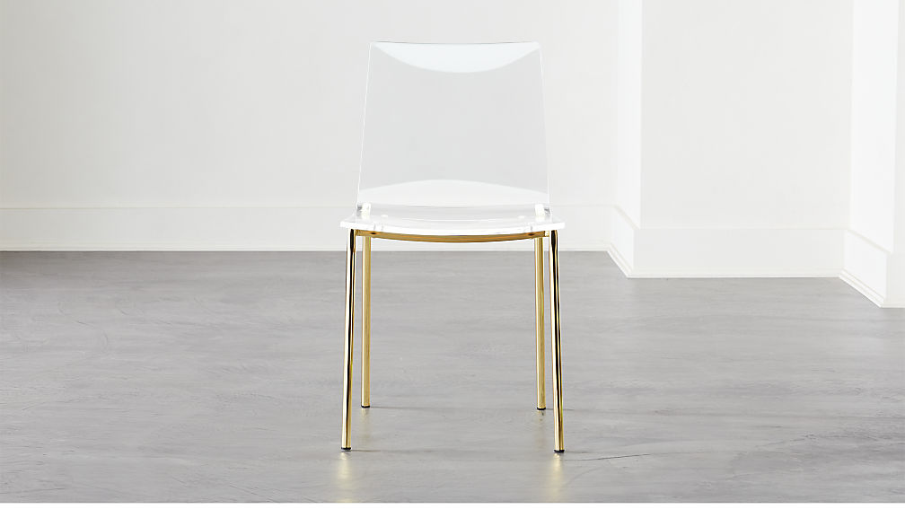 Chiaro Clear Chair Gold - Image 1 of 5