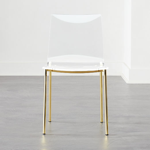 Chiaro Clear Chair Gold