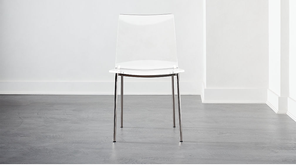 Chiaro Clear Chair Nickel - Image 1 of 8